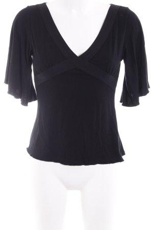 Zara Kimono-Bluse schwarz Elegant