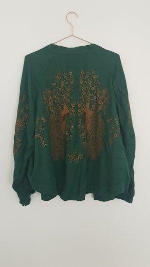 Zara Kimono chameau-vert forêt