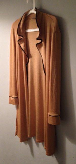 ZARA Kimono Mantel Jacke seidig leicht S M L 38 40 42 Rosé Apricot Nude