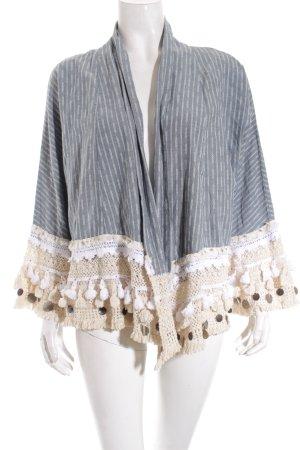 Zara Kimono Pullover mehrfarbig Street-Fashion-Look