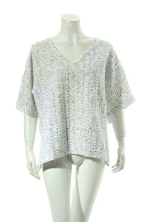 Zara Kimono Pullover weiß-schwarz Casual-Look