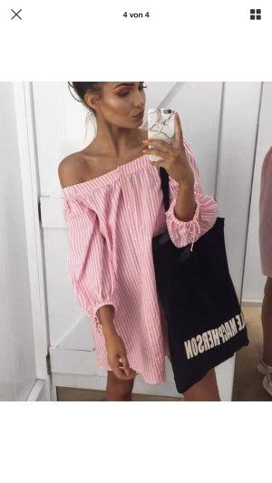 Zara Vestido babydoll rosa claro-rosa