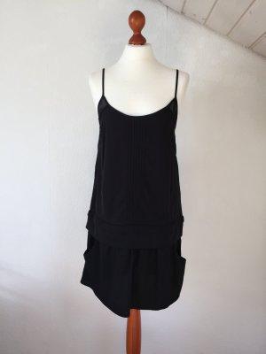 ZARA Kleid 36 S Sommerkleid Muster schwarz