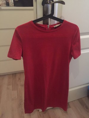 Zara Robe en cuir rouge