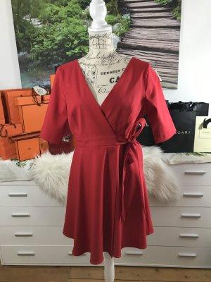 Zara Robe de soirée rouge brique
