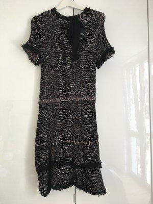 Zara Robe noir-argenté acrylique