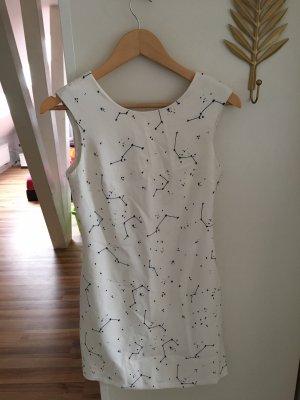 Zara Vestido de cóctel blanco-negro