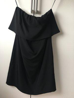 Zara Vestido bustier negro