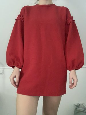 Zara Sweat Dress dark red