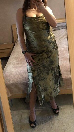 Zara Kleid Abendkleid Trägerkleid Metallic