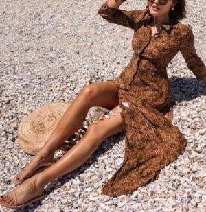 Zara Kleid Animal Blogger Maxi long Dress Leo Print Leokleid