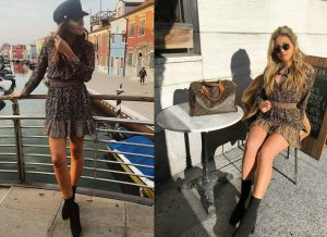 Zara Kleid Animal Blogger short Dress Leo Print