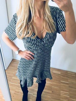 Zara Kleid Asymmetrische Volants Strickkleid S 36 Häkel
