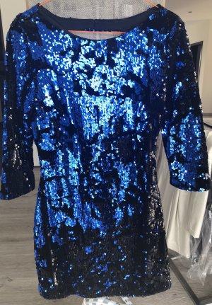 Zara Mini vestido negro-azul