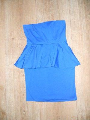 ZARA Kleid blau M Schößchen