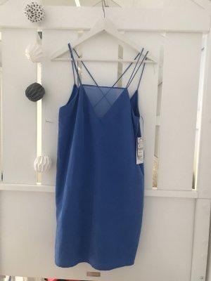 Zara Robe mi-longue bleu fluo