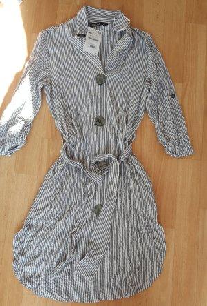 Zara Robe chemisier argenté-blanc