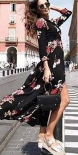 Zara Kleid Blogger Maxikleid