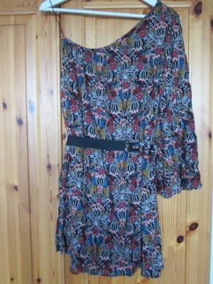 Zara Kleid boho floral one shoulder Gr. S NEU