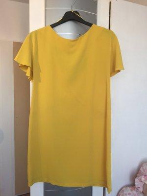 Zara Vestido amarillo oscuro-naranja dorado