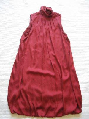 zara kleid coctailkleid partykleid burgund gr. s 36