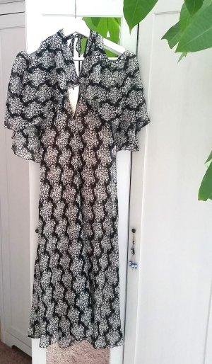 Zara Kleid creme schwarz Gr. M 38 Blogger