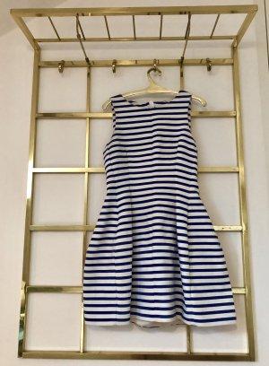 Zara vestido de globo blanco-azul