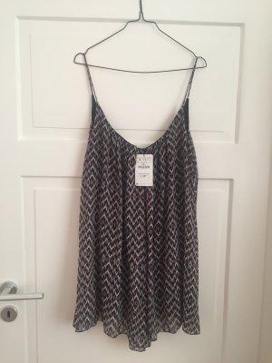 ZARA Kleid Dress Oberteil Shirt Muster NEU Top