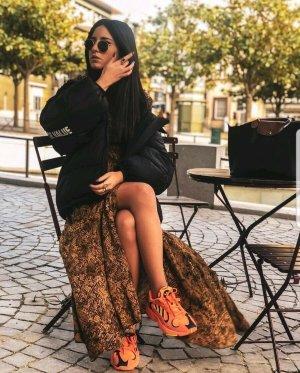 Zara Vestido largo color bronce-negro