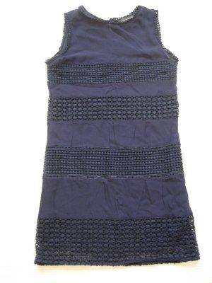 zara kleid etuikleid dunkelblau gr. s 36 topzustand