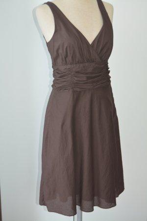 Zara Robe bustier brun noir coton