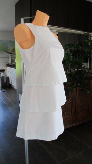 Zara Robe noir-blanc coton