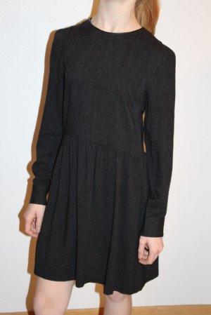 Zara Mini vestido gris antracita tejido mezclado