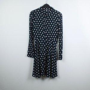 Zara Kleid Gr. XS blau gemustert (19/05/031)