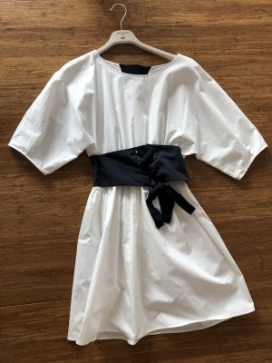 Zara Robe tunique blanc coton
