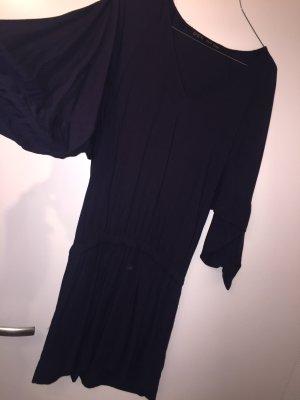 Zara Kleid Größe XS S oversized dunkelblau 36 Stiefel Shirt