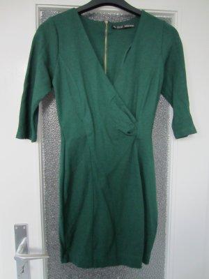 Zara Robe vert forêt coton