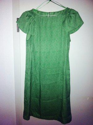 Zara Kleid grün-weiß gemustert Gr.34
