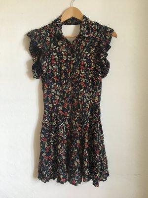 Zara Kleid Hosenrock jumpsuit XS 34 36 floral Blumen Blümchen