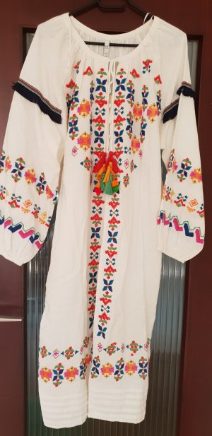 Zara Kleid kaftan mit stickerei Midikleid maxikleid boohoo