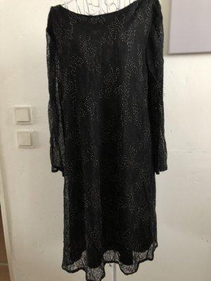 Zara Kleid, kleines schwarzes, m, spitze, Goldperlen, m