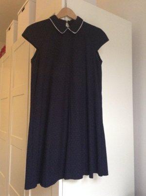 Zara-Kleid kurz, gepunktet mit Kragen