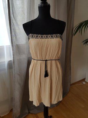 Zara-Kleid, kurz, Gr. L, beige/schwarz