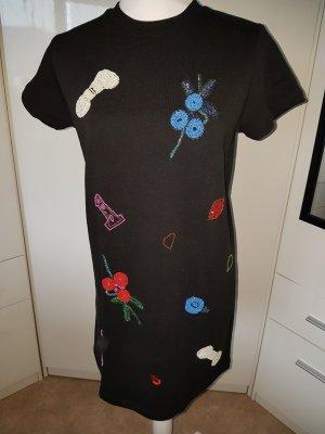 Zara Trafaluc Vestido de tela de sudadera multicolor