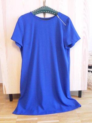 ZARA Kleid L/XL blau plissierter Rücken Etui Hochzeit