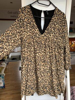 Zara Peplum Dress black-beige