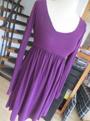 Zara Robe à manches longues violet or