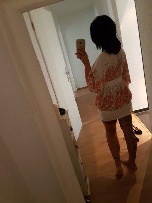 Zara Robe blanc-orange