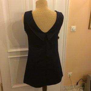 Zara Robe courte bleu foncé coton