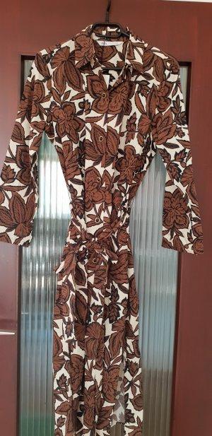 Zara Kleid Maxikleid Tunika mit Blumen Muster M boohoo dress blogger